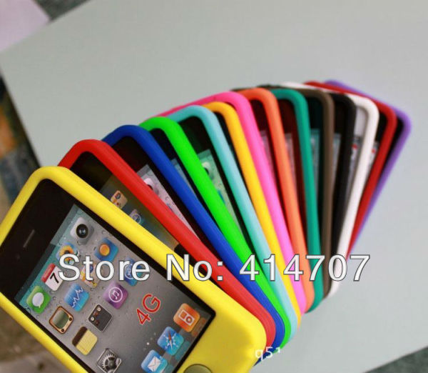 Retail Colorful Silicone Waterproof Cell Phone Cases for iPhone 4 4S 4G and for iPod Touch 4 Each 12 Colors in Stock Z0106