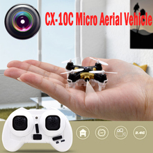 6-Axle Gyro CX-10C Micro RC Quadcopter With 300 Thousand Pixels Camera Photograph Video RC Helicopter Drone Black Orange