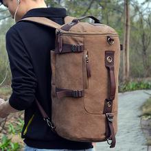 Multi functional - GYM bag Men Detachable Backpack male Korean Canvas bag student sports backpacks outdoor travel bag(China (Mainland))