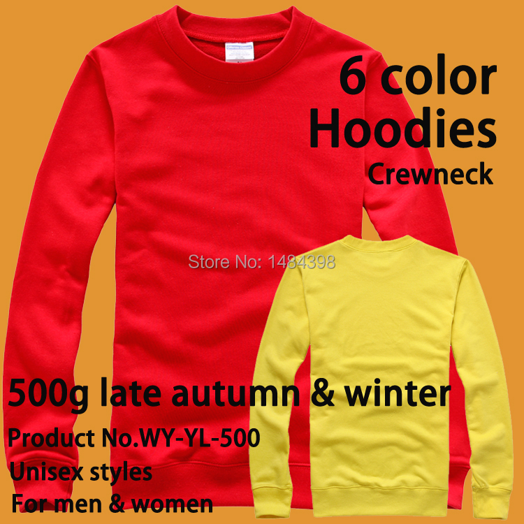 500g o neck Custom Hoodie / Custom Sweatshirts / Get Your Own Designed Hoodies & Sweatshirts image & logo printing embroidered(China (Mainland))