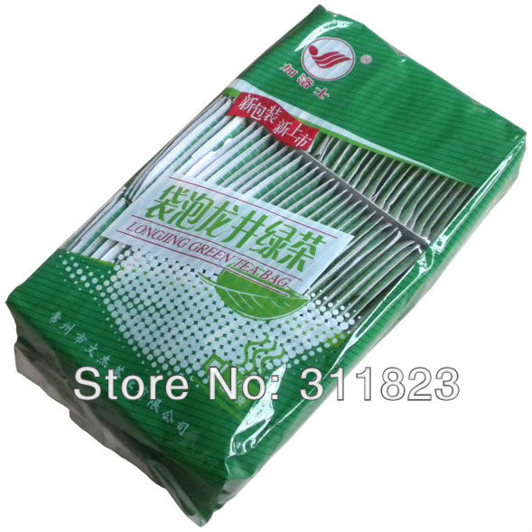 Гаджет  Hot Sale! Longjng Green Tea Bag, Dragon Well Tea With New Packing,100 Bags Health Care Product Wholesale Free Shipping None Еда