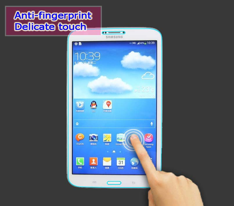 1pcs tempered glass film For Samsung GALAXY Tab 3 8.0″ T311 T310 tablet pc Anti-shatter LCD Screen Protector Film+retail package
