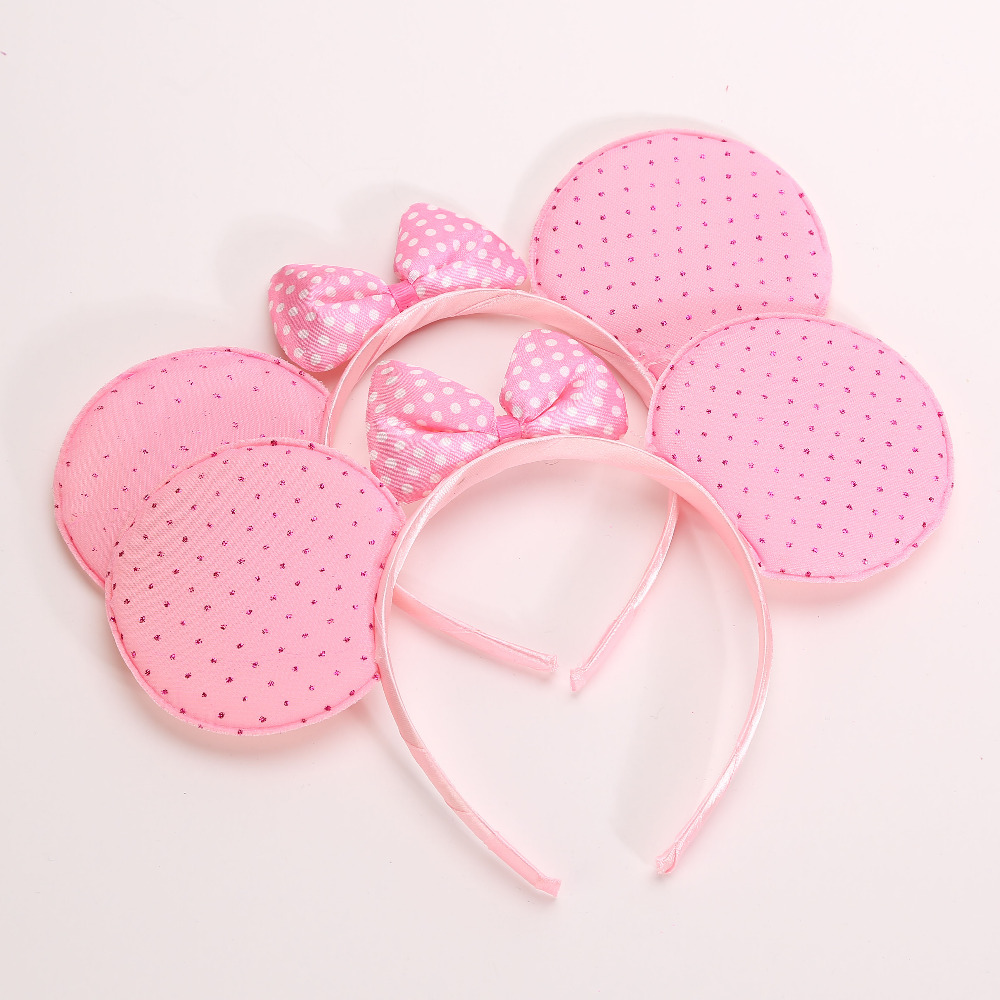 Power Dot Kids Baby Minnie Ear Wedding Party Headband Hairband Children Headwear Kids Birthday Halloween Party Supplies(China (Mainland))