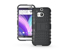 For HTC M8 Case Heavy Duty Phone Cover For HTC One M8 Hybrid Shockproof Hard TPU Armor Rugged Rubber Coque with Stand(China (Mainland))