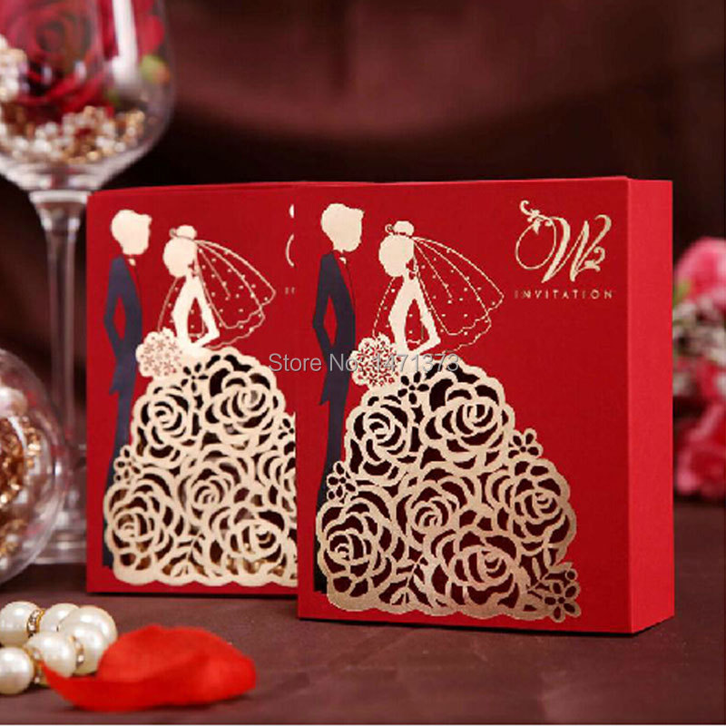 2015 Limited Decoracion Boda 10pcs Paper Candy Boxes Wedding Favors Hollow Bride And Groom Sweet Box Marriage Gifts Bag Supplies(China (Mainland))