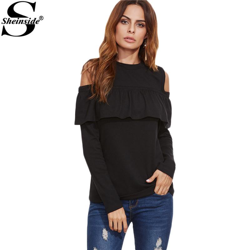 Online kaufen gro handel offene schulter shirt aus china for Shein frauen mode