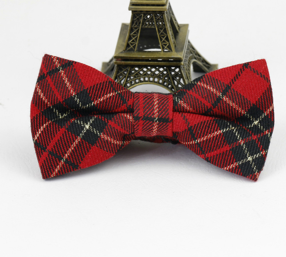 Hot Style Square Lattice font b Plaid b font Red Men Bowties Contton Gentlemen Wedding Party