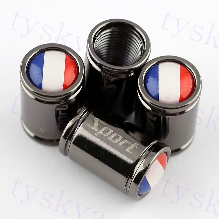Car Decoration Auto Accessory Parts Tyre Tire Valve Caps France FR Flag Metal Alloy Styling(China (Mainland))