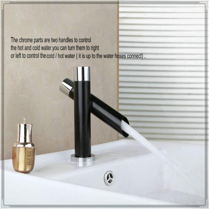 ... Black-Color-Bathroom-Basin-Sink-Mixer-Tap-Vessel-Faucet-N450-bathroom