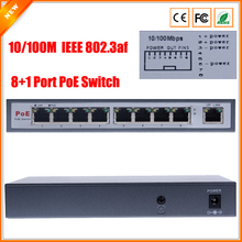 IEEE802.3af  PoE Switch 8 Port For IP Camera Power Over Ethernet PoE&Optical Transmission For IP Camera System Network Switches(China (Mainland))