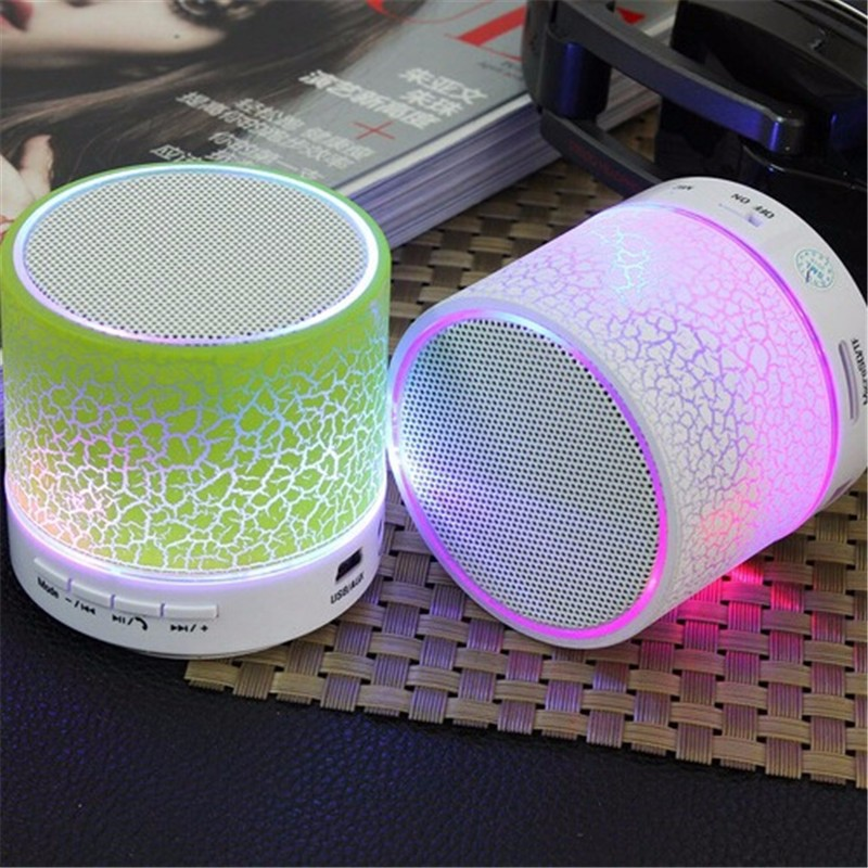 A9 Smart LED Light Crack Mini Wireless Bluetooth Speaker Portable Bluetooth Stereo Speaker Support TF card/USB flash drive/FM(China (Mainland))