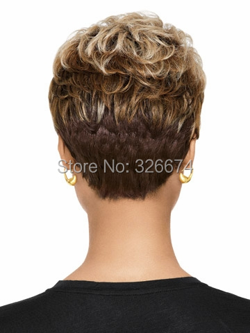 medusa hair products pixie cut style short afro wig for