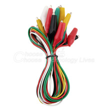 1set 10pcs Double-ended Test Leads Alligator Crocodile Roach Clip Jumper Wire Free / Drop Shipping