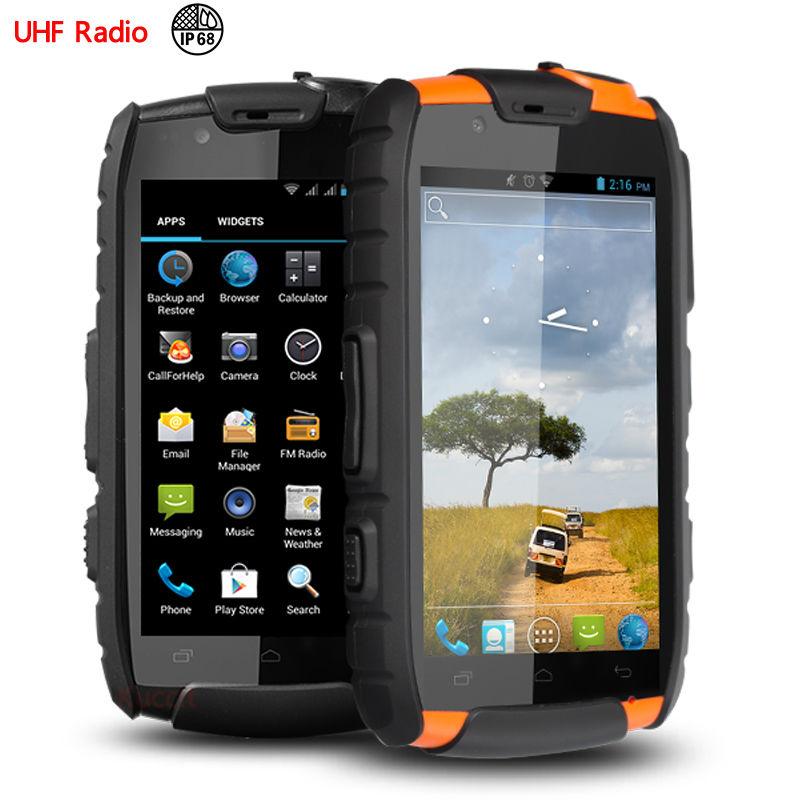 IP68 rugged Waterproof phone Shockproof Android VHF UHF PTT Radio Walkie talkie original S15 MTK6582 GPS 3G NFC S19 CE FCC(China (Mainland))