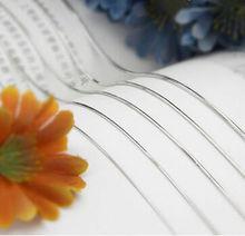 Silver Jewelry Necklace cadenas de plata Snake Chains 30 Inch Chain Necklace joyas de plata Mujer