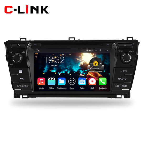 """Quad Core 1.6GHz 8"""" 1024*600 Screen Android 4.4 Car PC Video Stereo Radio Player For Toyota Corolla 2014 With WIFI 3G TV GPS DVD(China (Mainland))"""