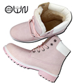 Women Boots Shoes OWNSHOP Winter Boots Fashion Design Fluff Fur inside Shoes Pink Brown Botas Mujer