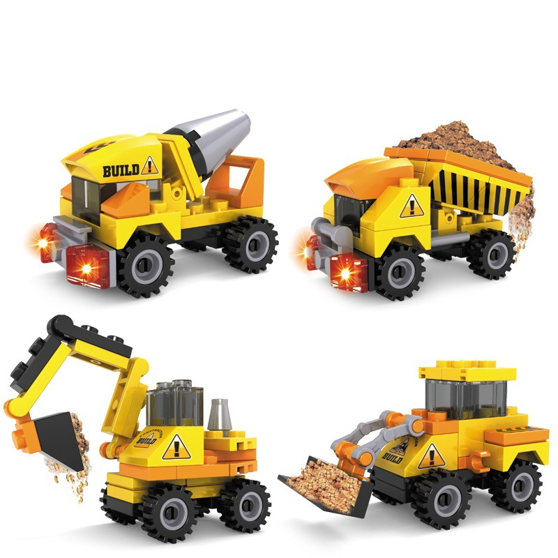 Best Construction Toys And Trucks For Kids : Building blocks sets toys for boys bricks car model