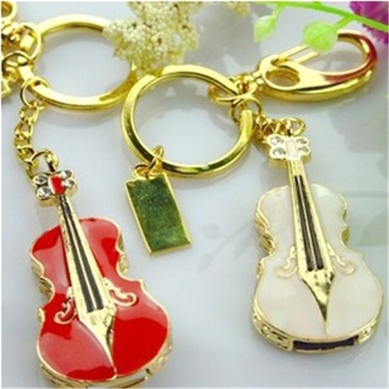 Jewellery U disk Alloy with plastic Guitar Necklace U disk Birthday promotional gift flash drive key ring of Customized S51(China (Mainland))