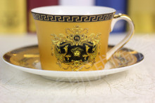 Factory Direct: European coffee cup and saucer coffee cup coffee cup coffee cup golden suit