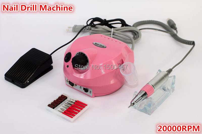 free shipping 20000 rpm electric professional nail art drill machine manicure pedicure pen tool set kit(China (Mainland))