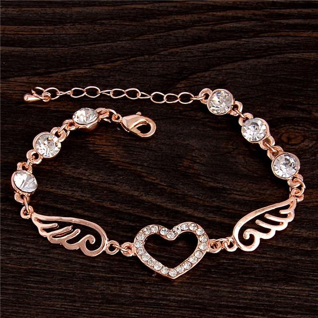 Очаровательная 1 шт. очаровательные новый продажа 18 К розовое золото заполненные ...