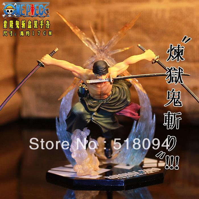 Free Shipping Japan Anime One Piece POP Roronoa Zoro 17CM Banpresto Action Figure Colossum New in Box OPFG239(China (Mainland))