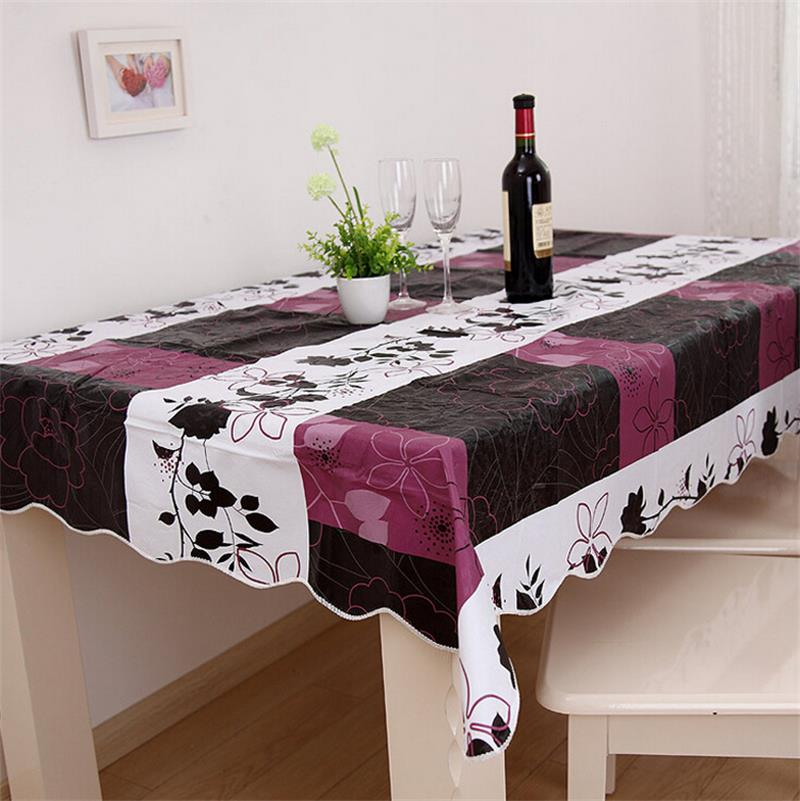 140*180cm Flannel-Backed Wipe Clean PVC Vinyl Tablecloth Dining Kitchen Table Cover(China (Mainland))