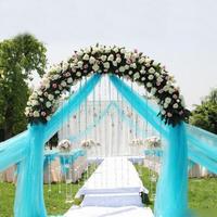 Wholesale 0.72*50M Sheer Mirror Organza Roll Wedding Chair Sash Bow Table Runner Swag Crystal Organza Fabric Free Shipping