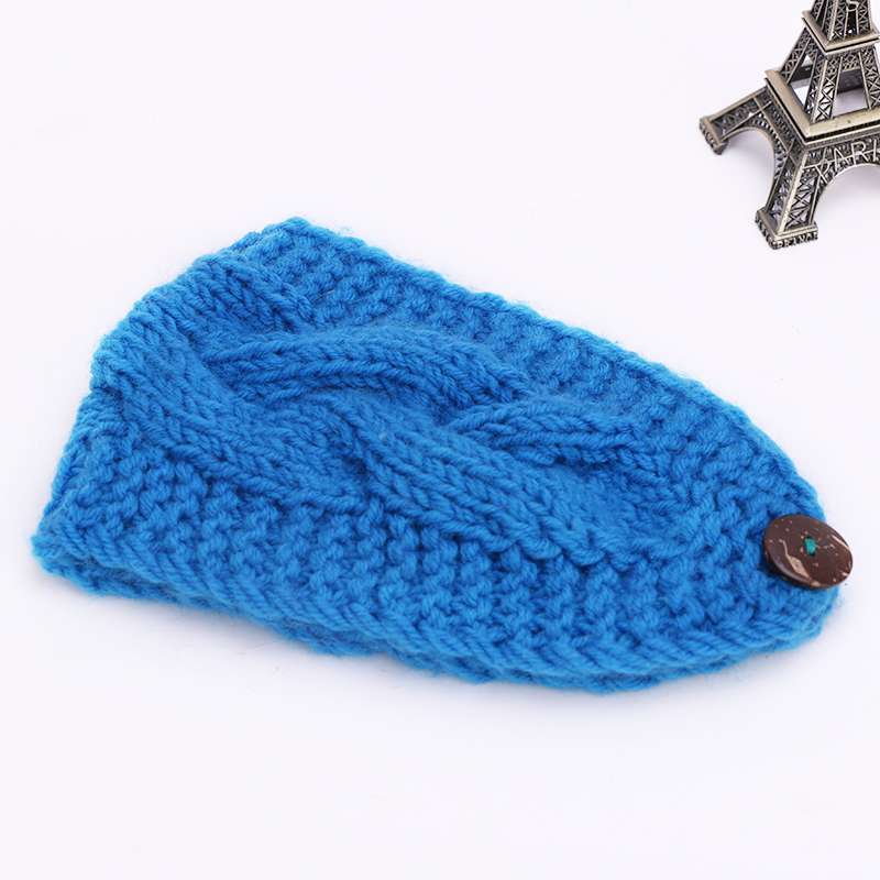 Fashion Solid Knitted Women Wide Head Band for Girl Women Elastic Girls Hairband Twist Pattern Girls Hair Accessories 1pc WH242(China (Mainland))