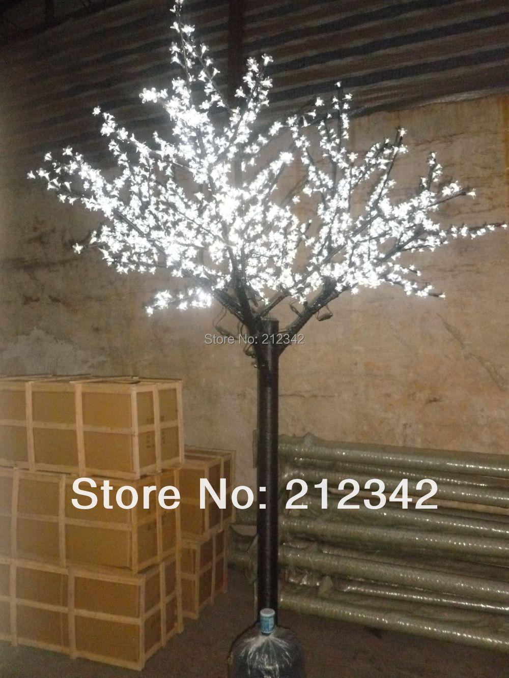 Free Shipping + LED Cherry Blossom Tree Light + Artificial Outdoor Christmas Light + 1,000pcs LEDs + 2m/6.5ft + Holiday Lighting(China (Mainland))
