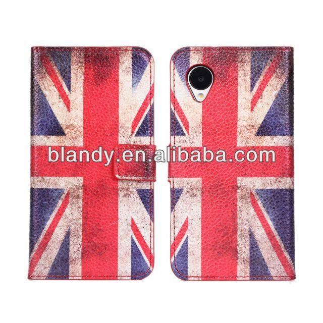 1pcs/lot free shipping Wholesale flip retro UK and USA flag leather standing case for LG Nexus 5 E980(China (Mainland))