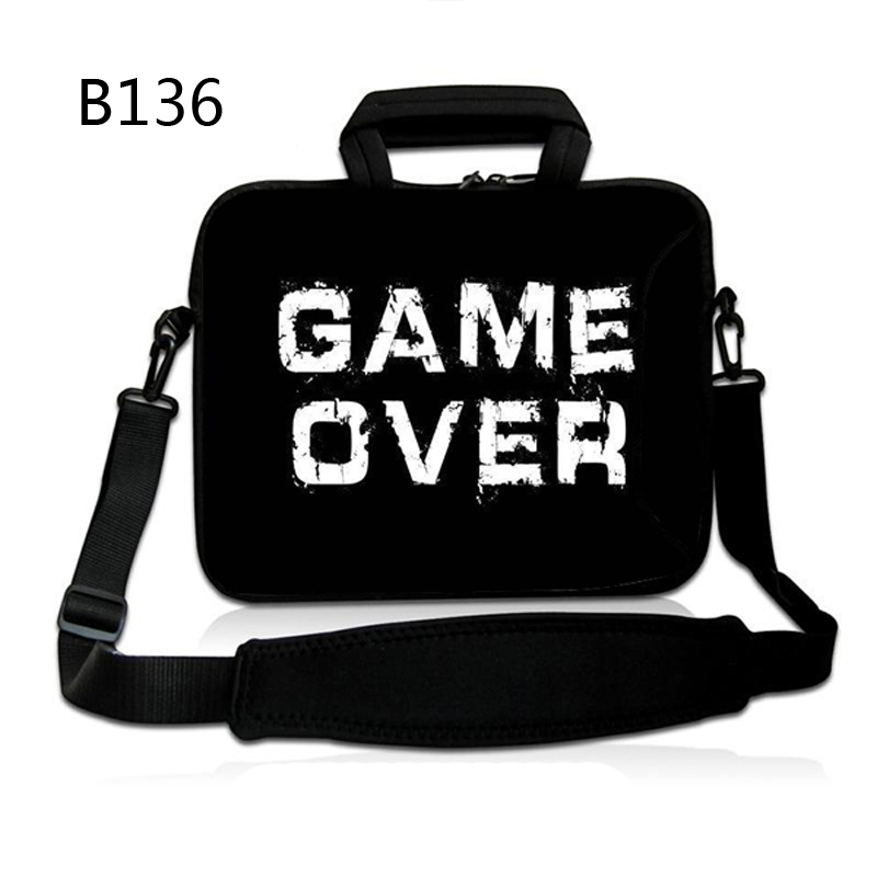 "Game Over Shoulder Carry PC Bags Pouch Sleeve Case for 10"" 10.6"" 11.6"" 13.3"" 14"" 15.6"" 17.3"" 13"" 15"" 17"" Laptop with Handle(China (Mainland))"