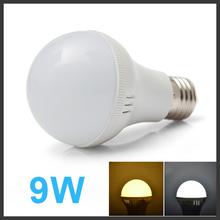 HOT LED Light 9W E27 More discount SMD5730 LED Lamp Bulb 190-230V High power Warm white/white 6 pcs/lot Free Shipping D9(China (Mainland))