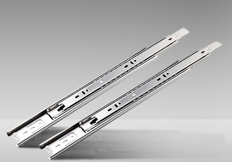 Stainless steel rails three drawer guide hardware mute track<br><br>Aliexpress
