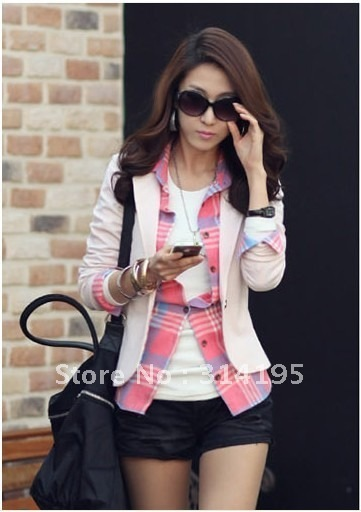 2013 women's casual blazer(M,L,XL) promotion ladies' short jacket Free shipping new arrive women suits ZY1801