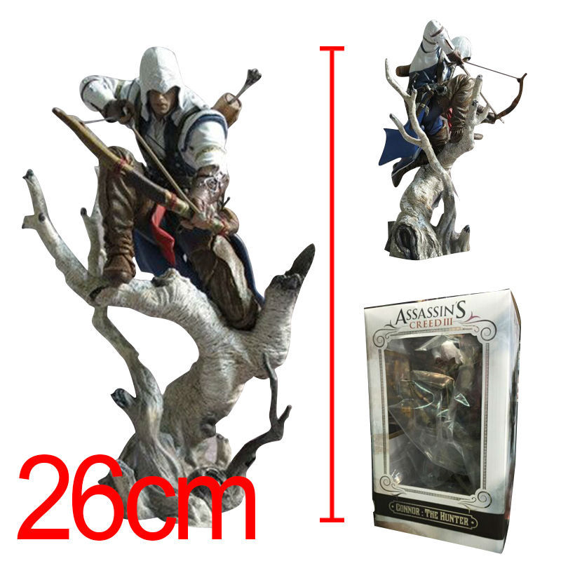 Anime Assassin's Creed 3 Connor PVC Action Figure The Hunter PVC ACGN figure Collectible Modle Toys Brinquedos 26cm New in Box