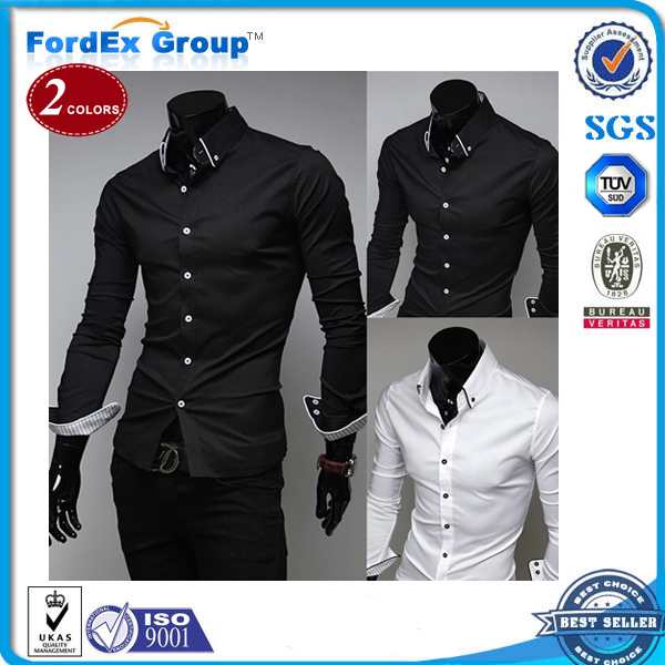 2015 Hot Mens Shirts,Men's dress Casual Fit Stylish long-sleeved Shirts Size:M-XXXL - Fordex Industrial Group Limited store