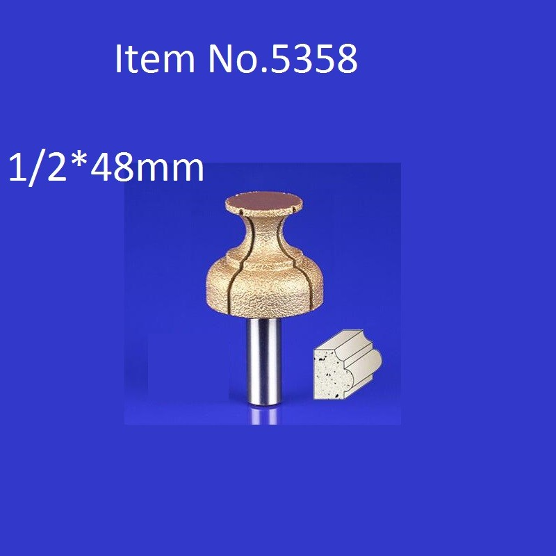 Buy 1PC 1/2*48mm CNC Engraving Bits Diamond Sand Diamond End Milling Cutter On Cutting Trimming Knife Bevel Heads  Free Shipping cheap