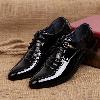 New arrival male leather fashion casual shoes men pointed toe lacing up shoes breathable flats for man