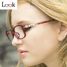 Hot Sale 2016 Diamond Retro Glasses Frame Myopia Optical Eye Glasses Frames For Women Oculos Eyeglasses Eyewear Gafas Occhiali