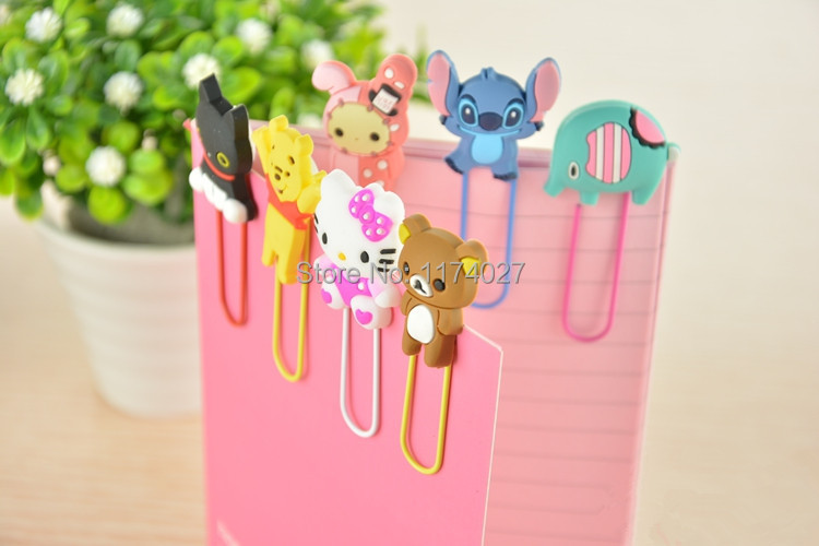 Free shipping Lovely cartoon bookmark 3D animal Paper clip 4 pcs/lot(China (Mainland))