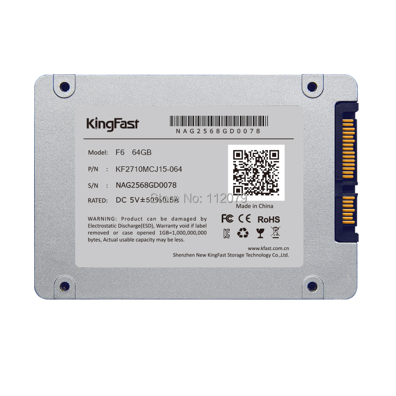 "2.5"" SATA 60GB KingFast SSD F6 for Lenovo Dell HP ASUS Acer Thinkpad Sony laptop Computer Mini PC Laptop Free Shipping(China (Mainland))"