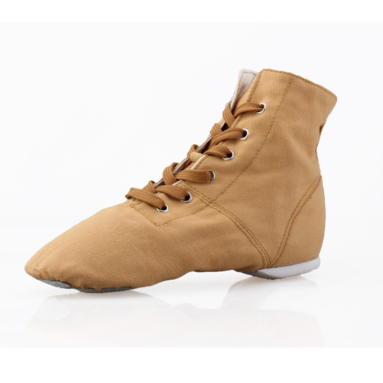 2016 Children Girls and Boys Canvas Jazz Dance Shoes Lace Up High-top Boots Practice Dancing Shoes for Girl Zapatos Jazz Flats(China (Mainland))