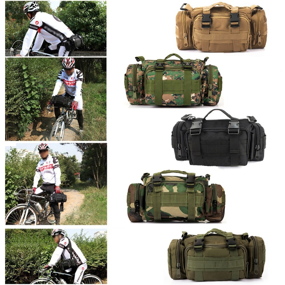 Newest Outdoor Military Tactical Waist Pack Shoulder Molle Camping Hiking Pouch Bag<br><br>Aliexpress