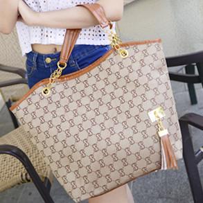 2015 hot new fashion brand canvas bag women clutch grain chain shoulder bag handbag is a character.Free shipping zc0036(China (Mainland))