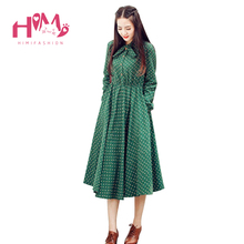 Buy Cute Green Floral Dress Vintage Ladies Dresses Bohemian Style Autumn Winter Long Sleeves Match New Fashion Long Sleeve Dress for $19.80 in AliExpress store