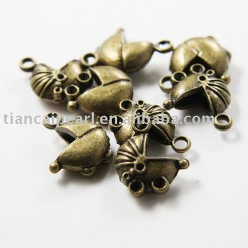 Bronze Antique Brass Tone Base Metal Charms-Baby Car 14x17mm Jewelry Accessories Nickel Free!!