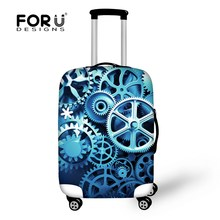 Vintage Luggage Protective Cover Apply to 18/20/22/24/26/28/30 Inch Travel Suitcase Elastic Waterproof Dust Trolley Case Covers(China (Mainland))