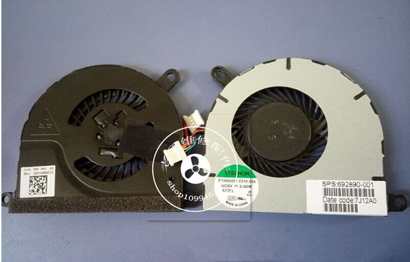 CPU fan for HP Envy SpectreXT 13 XT 13 laptop CPU cooling fan EG50050S1-C010-S9A SPS 692890-001(China (Mainland))
